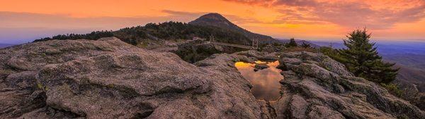 """Sunrise, Mile-High Bridge, Grandfather Mountain"" by Skip Sickle"