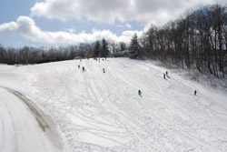 Located at Moses Cone Park, this sledding hill is popular during the winter.