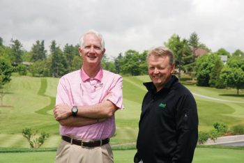 Wayne Henderson is pictured with Ben Barnes, course superintendent at Blowing Rock Country Club