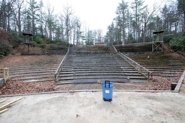 A view from the stage of the Daniel Boone Amphitheater.
