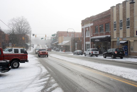 Downtown Boone at nearly 11 a.m. on Monday. Photo by Ken Ketchie
