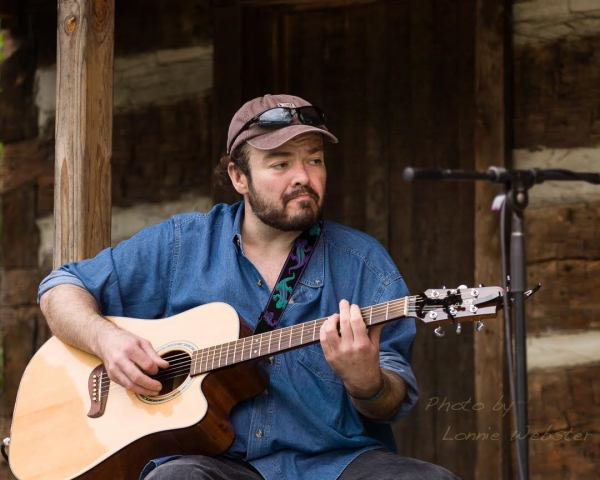 Richard Watson on the Cabin Stage at MerleFest in 2008. Photo by Lonnie Webster