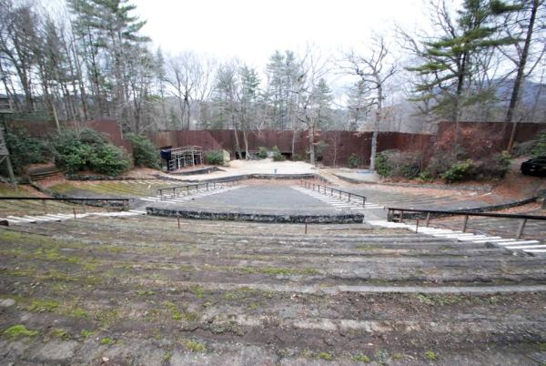 A view of the Daniel Boone Amphitheater.