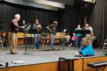 Ensemble Stage Rehearsals
