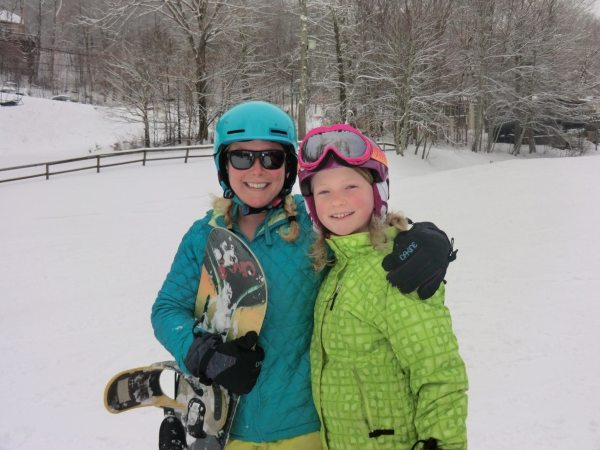 Avery County locals, Hailie and Sydney Bryant, enjoying yet again another snow day. Photo credit - Sugar Mountain Resort
