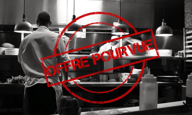 Offre d'emploi HCR Recrutement : Second de cuisine