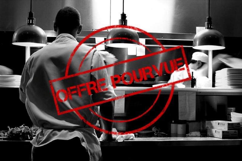 Offres d 39 emploi hcr recrutement m tiers de cuisine for Offre d emploi chef de cuisine