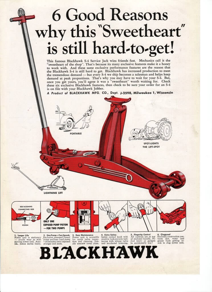 Vintage Ads  About  Lazzars Floor Jack  Hydraulic