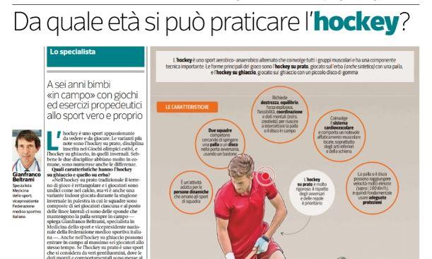 """L'hockey su prato sul """"Corriere della Sera"""": da leggere!"""