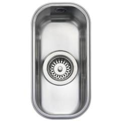Small Kitchen Sinks Commercial Cleaning Services Rangemaster Atlantic Classic 0 5 Bowl Stainless Steel Undermount Sink