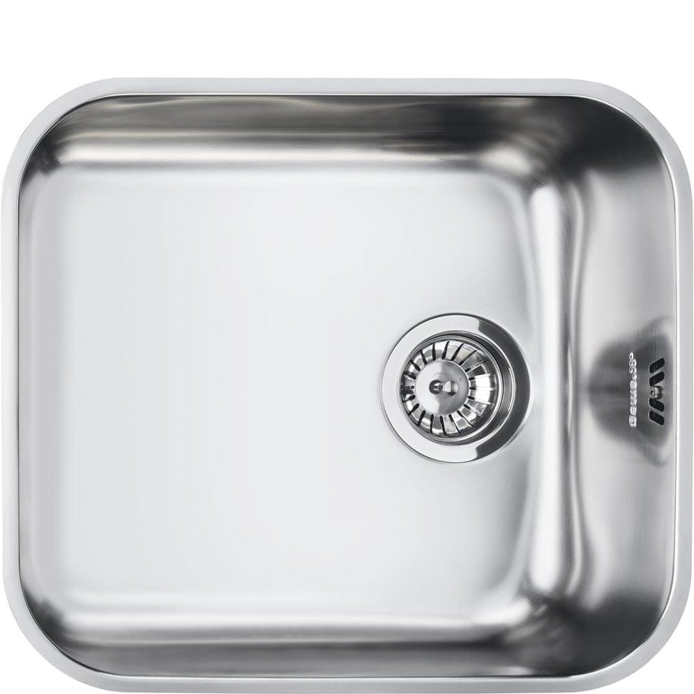 square kitchen sink best appliance brand sinks trade prices smeg alba um45 1 0 bowl stainless steel undermount