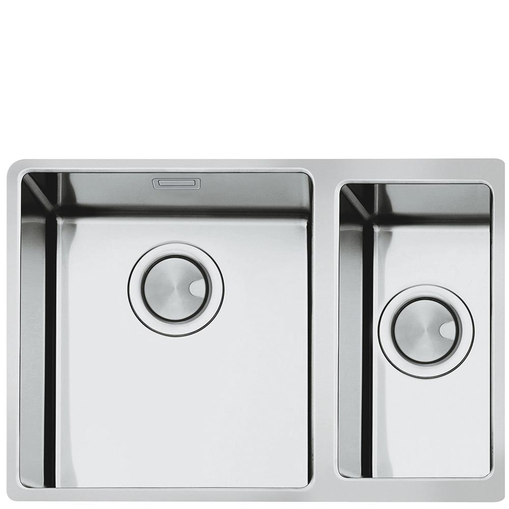 single bowl stainless kitchen sink delta handle faucet installation smeg mira 1 5 steel undermount in