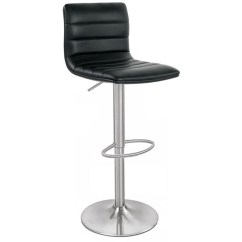 Black Bar Stool Chairs Exercise Ball As Chair Benefits Aldo Brushed Size X 390mm