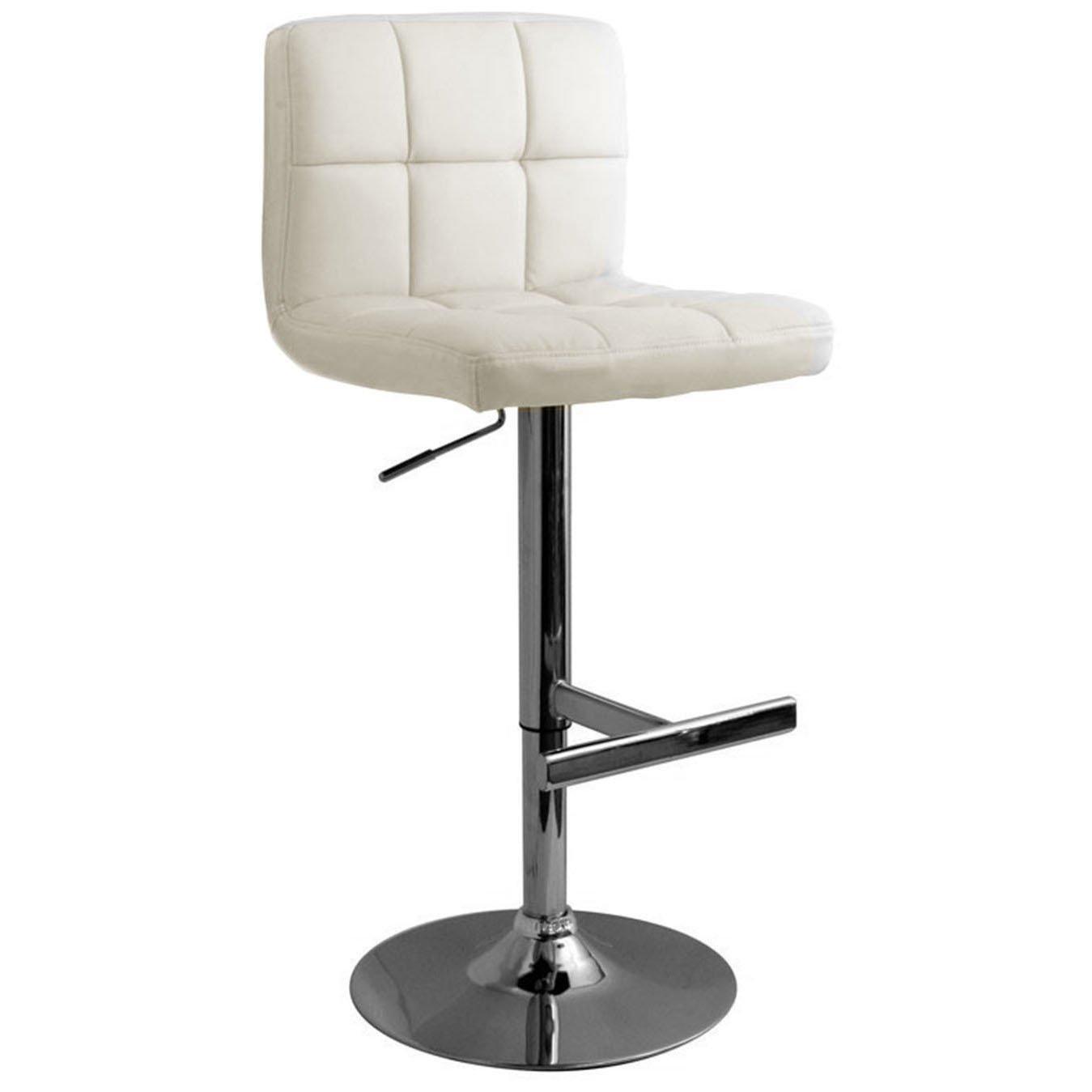 white leather kitchen bar stools island ikea allegro brushed stool size x 450mm