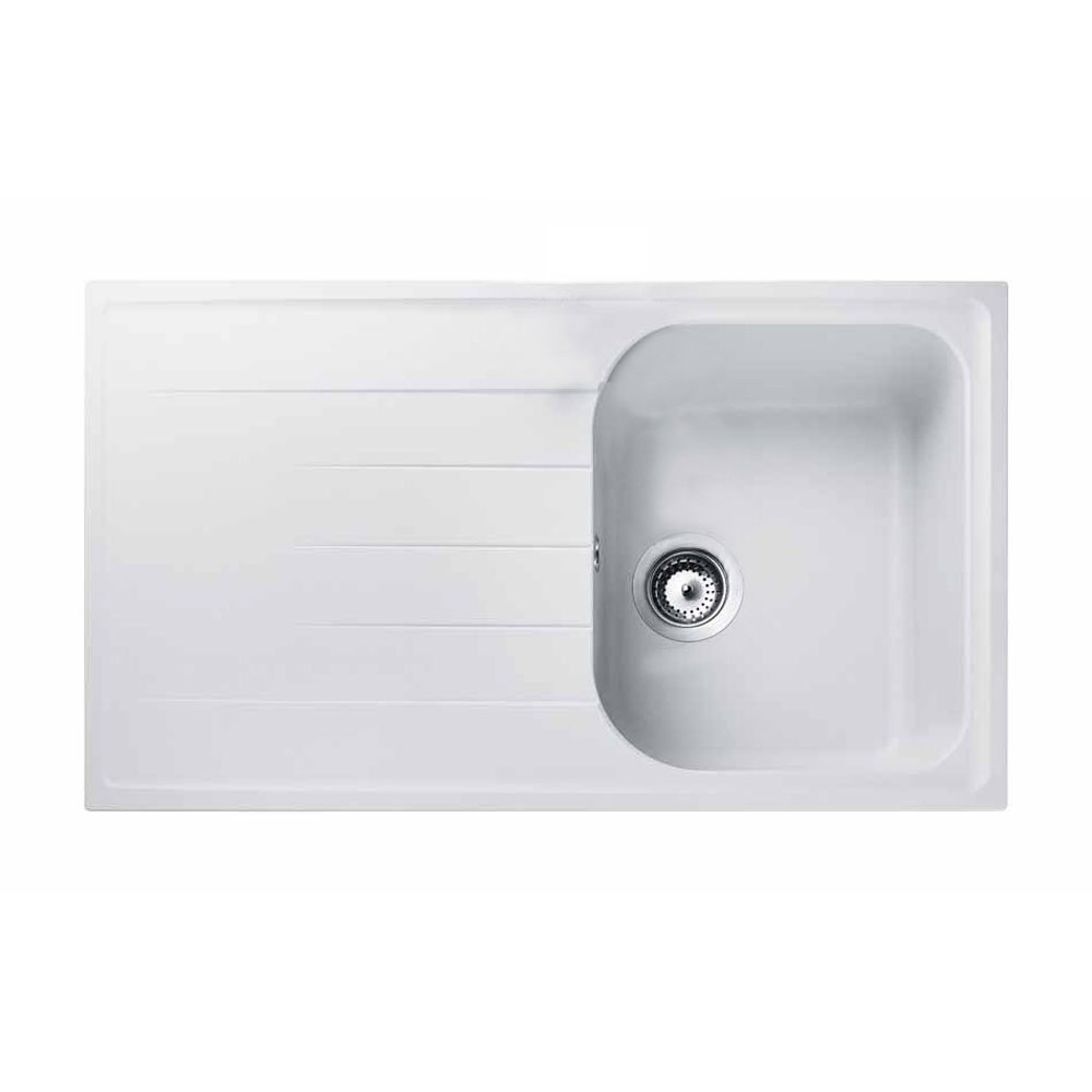 compact kitchen sink moen faucet cartridge replacement instructions designer sinks trade prices rangemaster amethyst 1 0 bowl granite crystal white