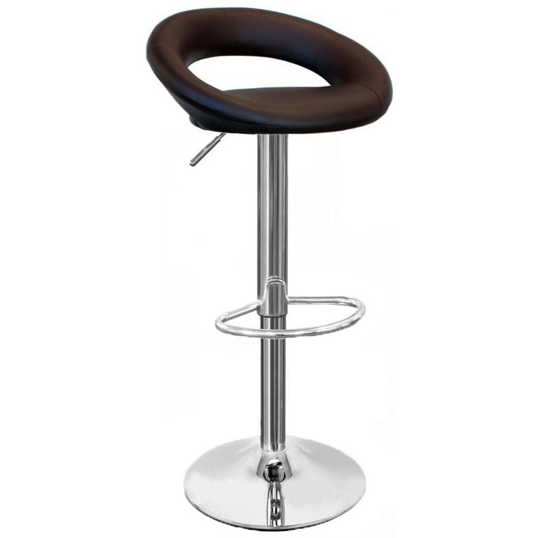 upholstered folding chairs uk chair tree swing sorrento kitchen bar stool - brown size: x 540mm