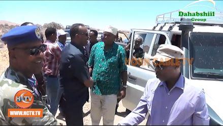 Wasiirka Hawlaha Guud Ee Somaliland Oo Gaadhay Laascaanood.