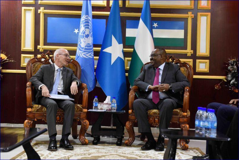Madaxweynaha Puntland Oo Kulan La Yeeshay Wakiilka QM Ee Somalia