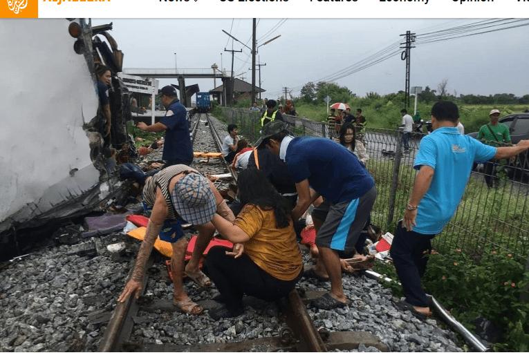 Thailand: 17 Rakaab Ah oo ku dhintay Bas Iyo Tareen Isku Dhacay