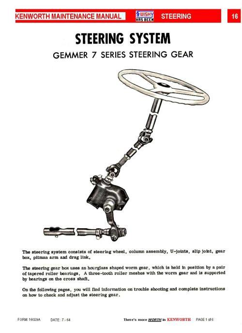 small resolution of kenworth steering historic commercial vehicle club of australia kenworth steering column diagram