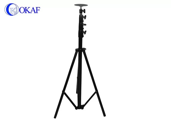 Mobile Telescopic Mast Pole , Tripod Antenna Tower With