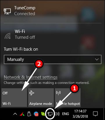 Wi Fi لايعمل على الكمبيوتر المحمول المثبت علية نظام التشغيل