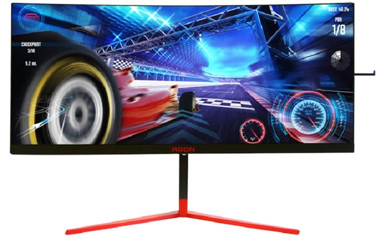 AOC presenta el monitor AGON AG353: ultrawide curvo. 200Hz. 1440p. HDR y FreeSync 2/GSync