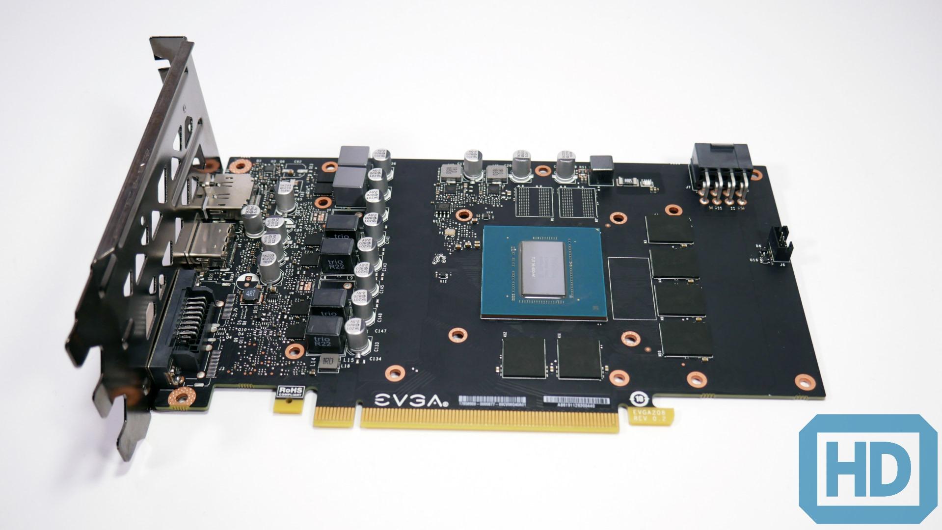 hight resolution of utiliza un pcb con 4 fases de poder para gpu y 2 para memoria alimentando mas que bien al n cleo tu116 y los 6 chips gddr6 presentes