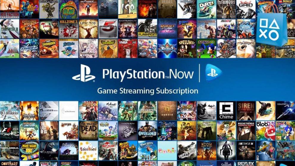 El servicio de PlayStation Now, con su gran catalogo de juegos.