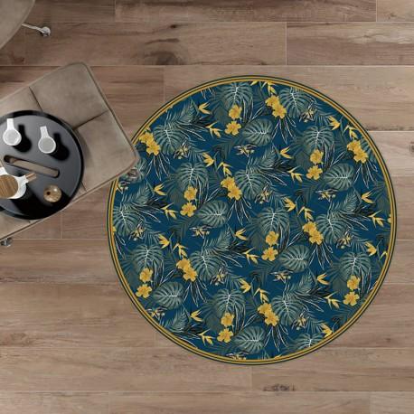 tapis vinyle rond bali