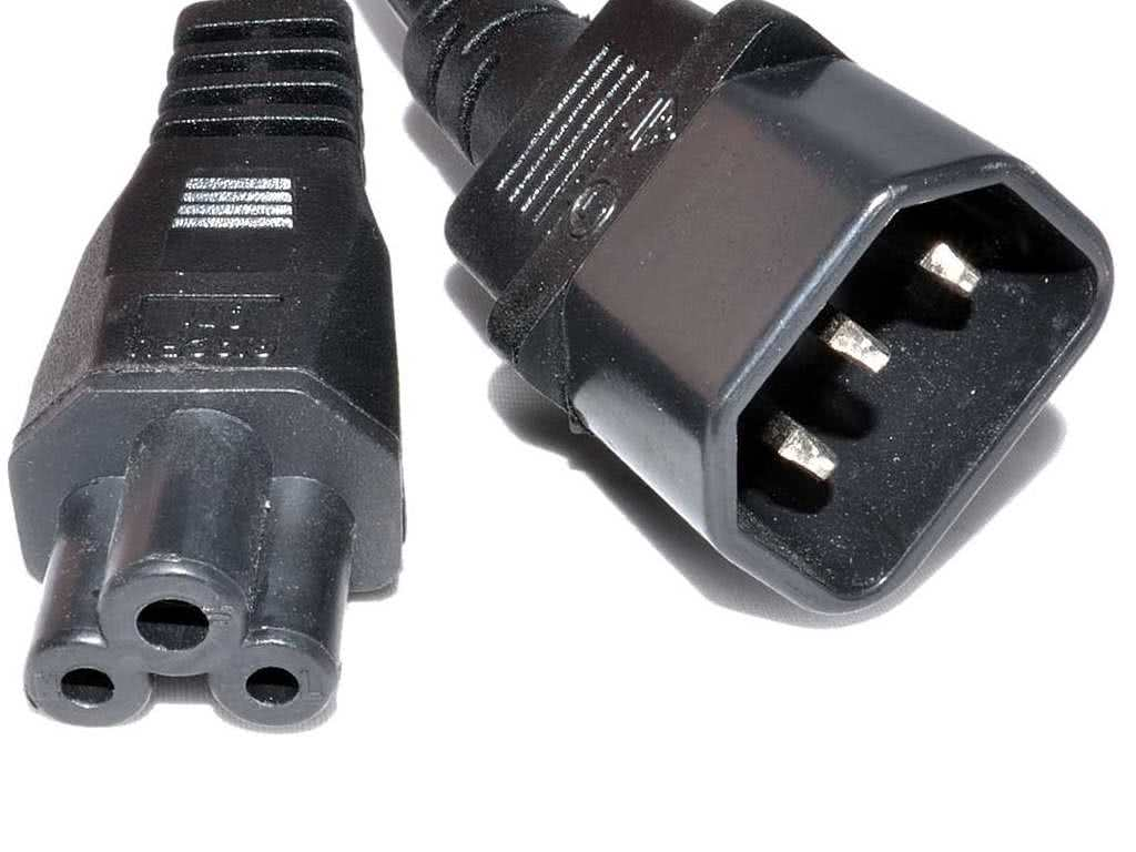 hight resolution of 1 5 meter clover plug to male kettle cord iec plug c14 adapter extension