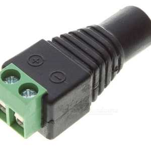 2.1 mm Female DC CCTV Security camera adaptor 12V power jack connector used with Power over Network Cable