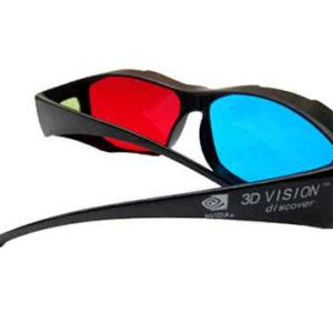 Anaglyph 3D Glasses for 2D to 3D Converter, Cyberlink PowerDVD 11 3D, Nvidia Geforce 3D Vision or iZ3D (ATI) Rendering