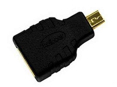 Female HDMI Type A (Standard HDMI) to Male micro HDMI (Type D) adapter