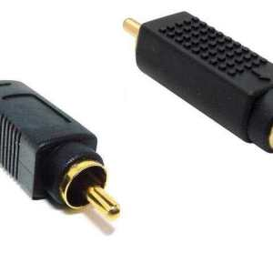 Female S-video to RCA Male Adapter (Bi-Directional) - Gold Plated