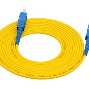 40 Meter SC to SC Optical Fiber Cable for Networks / Fiber HDMI Extenders, 3mm, SingleMode G652D Spec 9/125um (Micron) Patch Cord (FTTH)