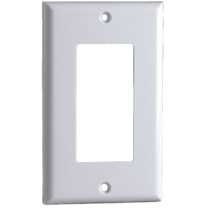 4x2 WallPlate 70mm x 120mm with 3 Inserts / Faceplate Cover Modular - Single Electrical Plug Size (White)