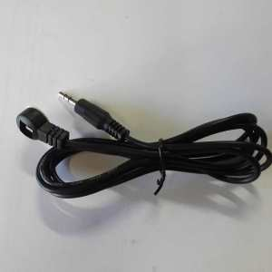 2-Ring Single IR eye Receiver cable for HDMI over CAT6 with IR, Wireless IR Extenders or any IR Equipment with 3.5mm Jack
