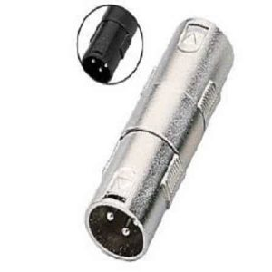 XLR Male to XLR Male Metal Adapter / Coupler