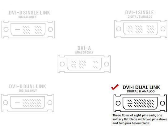 Female Dual Link DVI-A To VGA-HD15 Male Adapter