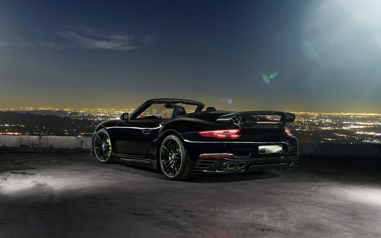 Black Car Hd Wallpaper Download 2016 Techart Porsche 911 Convertible Rear Wallpaper Hd
