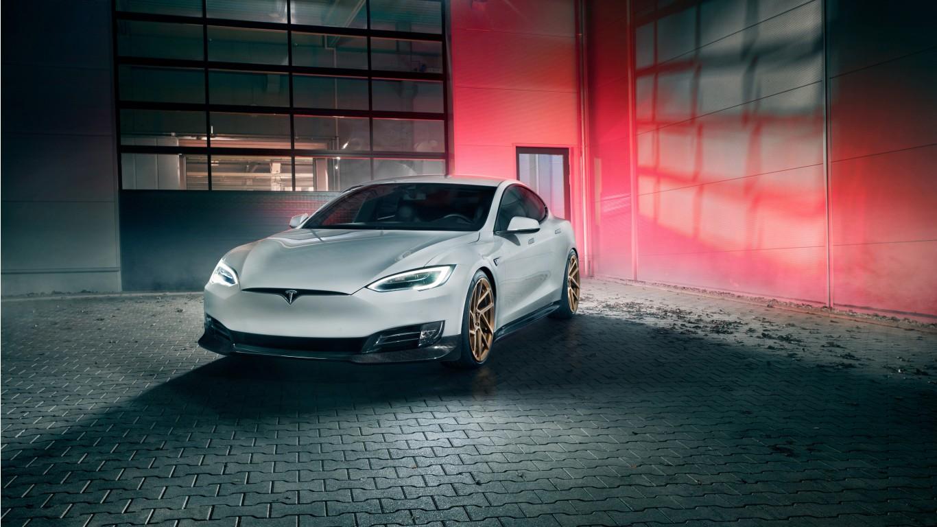 2017 Novitec Tesla Model S 4K 3 Wallpaper HD Car