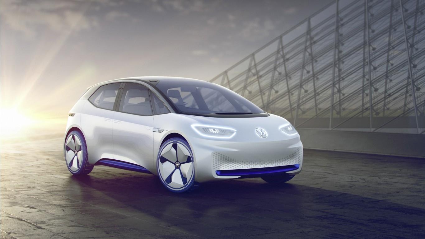 2017 Volkswagen Id Concept 4k Wallpaper Hd Car