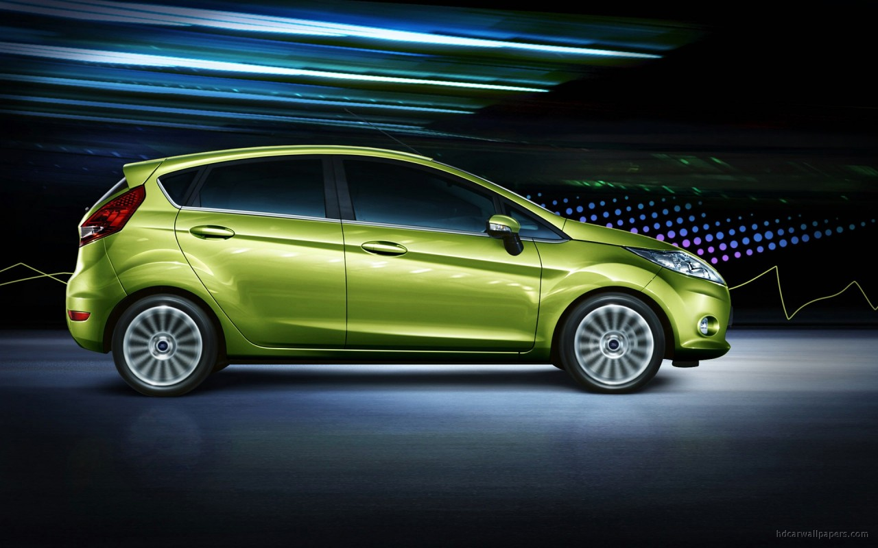 Green Ford Fiesta