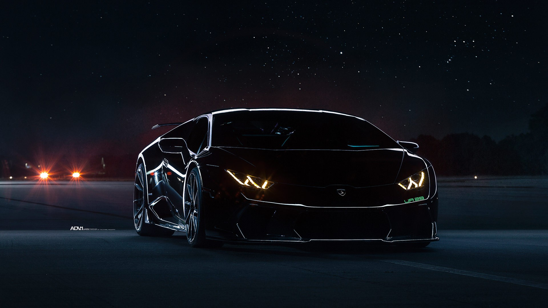 Tuning Car Iphone Wallpaper Lamborghini Huracan Black Underground Racing Twin Turbo