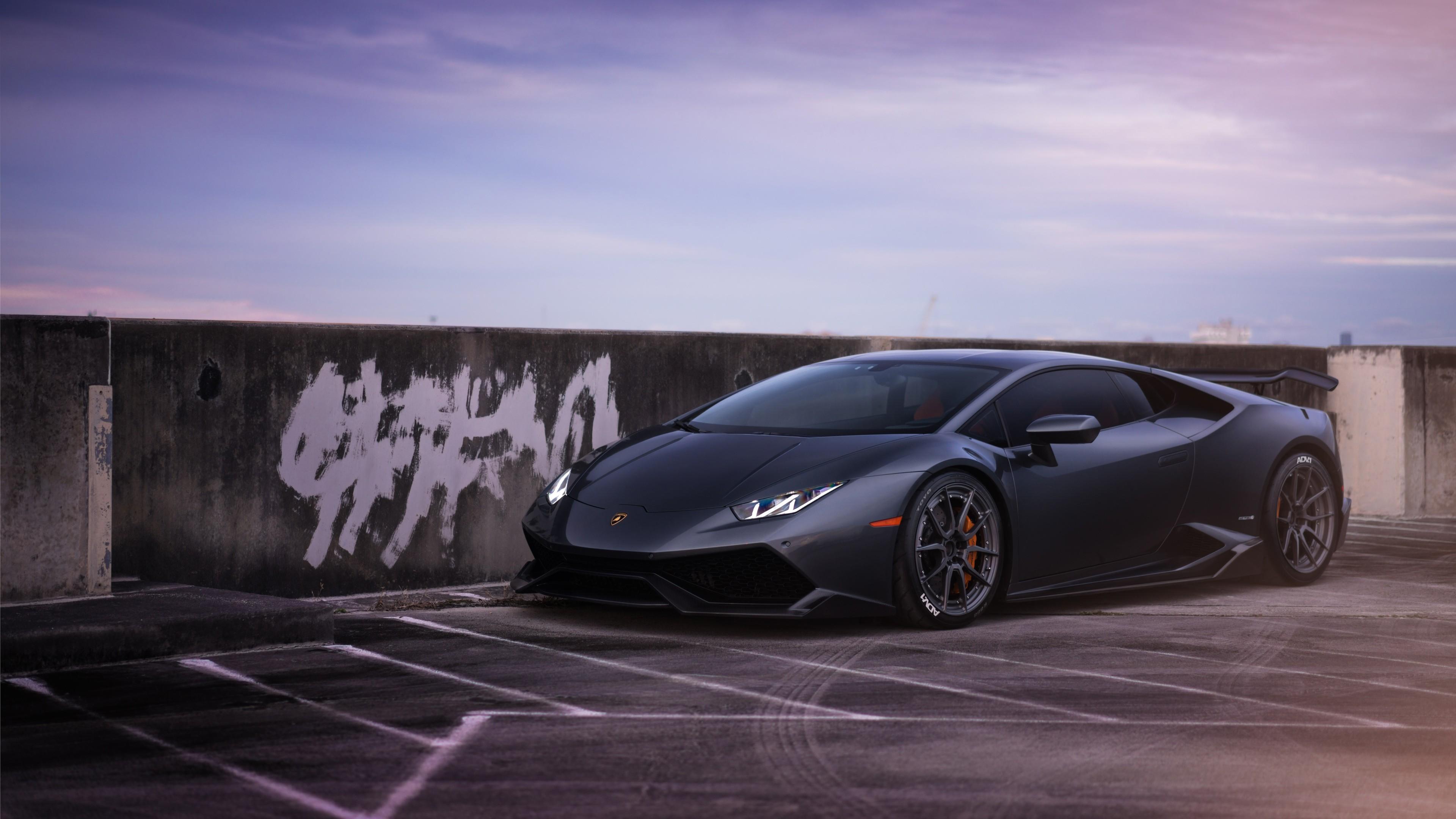 High Performance Car Pc Desktop Wallpaper Lamborghini Huracan On Adv1 Wheels 2 Wallpaper Hd Car