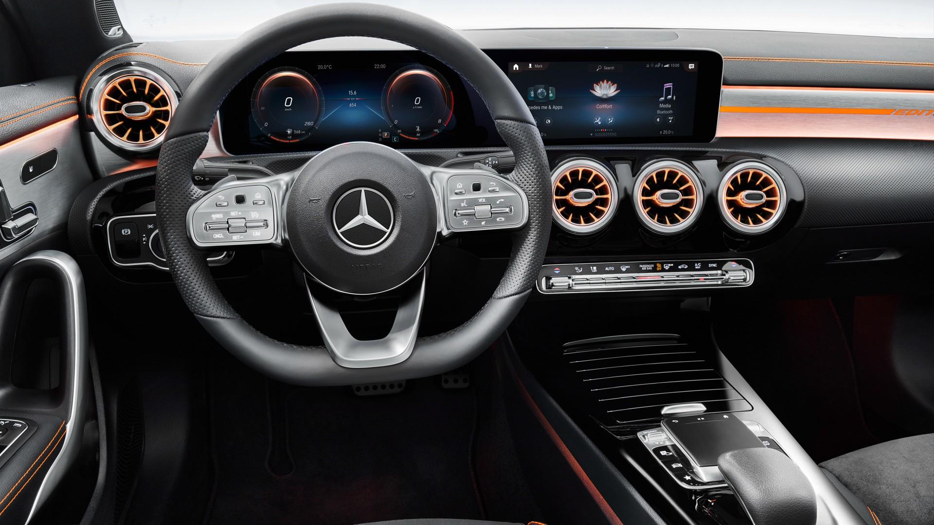 Race Car Wallpaper For Iphone Mercedes Benz Cla 250 Amg Line Edition Orange Art 2019 4k