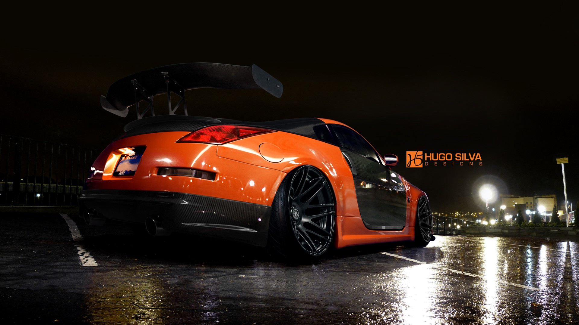 Latest Car Wallpaper 2014 Orange Nissan 350z Wallpaper Hd Car Wallpapers Id 4915