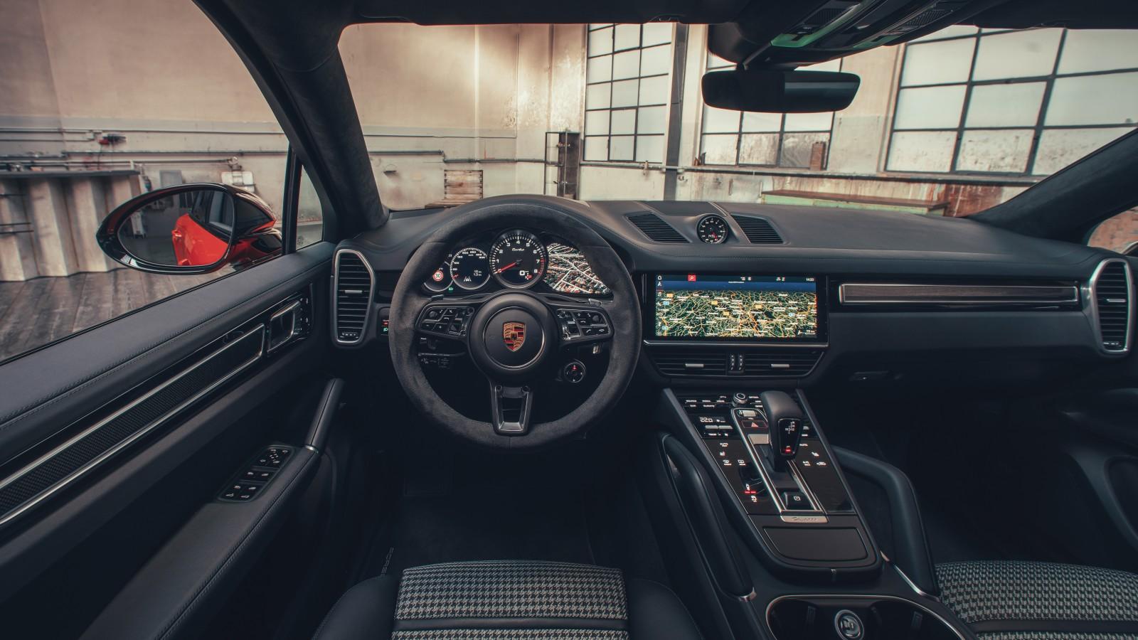 Inside Of Iphone X Wallpaper Porsche Cayenne Turbo Coupe 2019 4k Interior Wallpaper