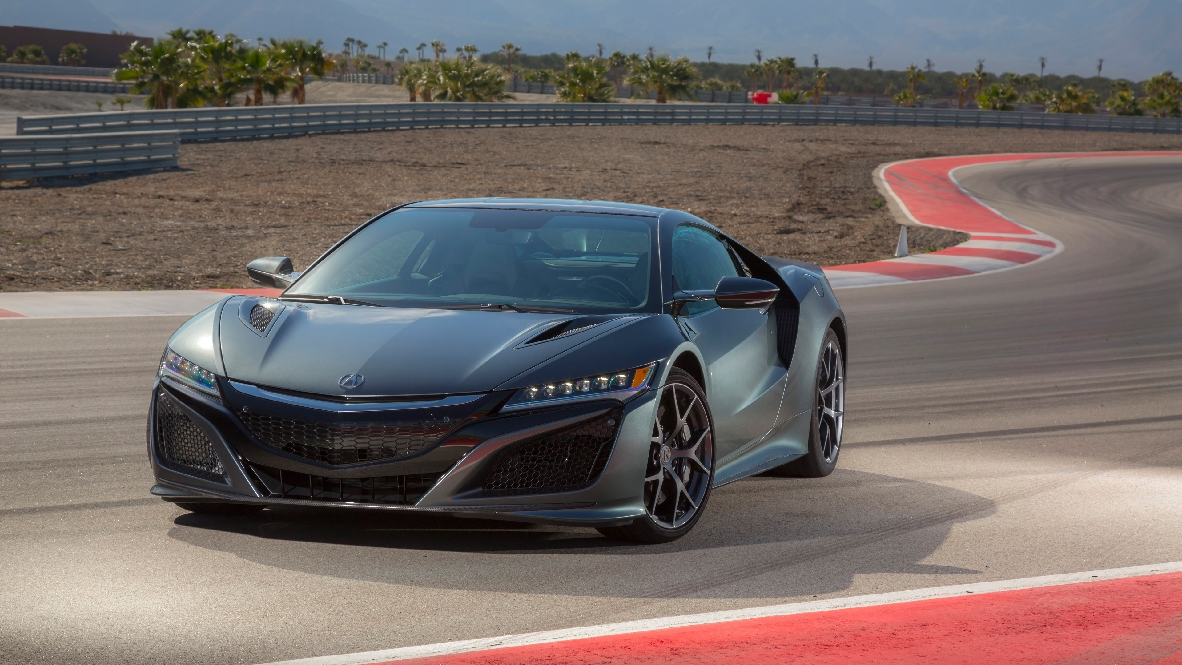 2017 acura nsx nord gray metallic 4k wallpaper